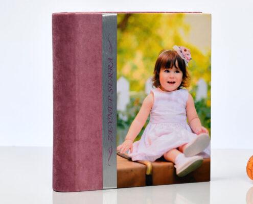 30-35 Fotoğraflık 25x46 Kadife Çocuk Fotoğraf Albümü